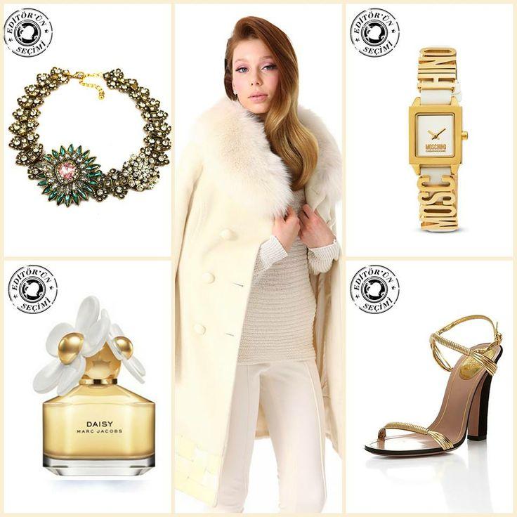 Editörümüzün Çarşamba seçimleriyle kendini gösteren kış mevsimine sıcacık girebilirsiniz. #moda #markafoni #stil #beyaz #editorunsecimi #parfum #editorspick #white #winter #bag #bags #watch #luxury #gucci #marcjacobs #moschino