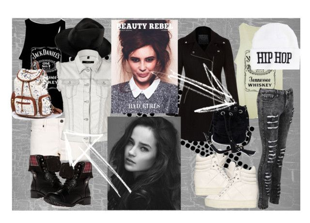 bad girls by slytheriner on Polyvore featuring J Brand, MANGO, DailyLook, Sabrina Tach and United Couture