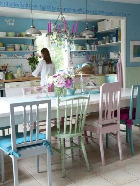 Pastel kitchen,