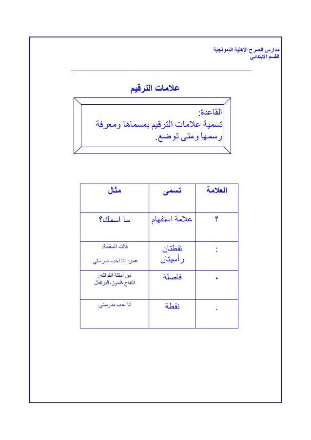 ملزمة لغتي للصف الأول الأبتدائي الفصل الثاني Learning Arabic Education Learning