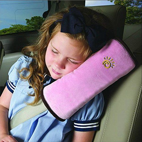 Kind-Kind Auto Xagoo Tr�ger-Auto-Sicherheitsgurt-B�gel-Schulter-Sicherheits-Auflage Abdeckung Mini Schlafkissen Kissen-Ansatz-Kopfpolster Soft Neue (Rose)
