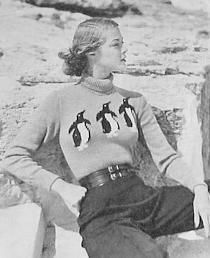 40's fashion by pollovf, via Flickr. Love the pants with the belt!