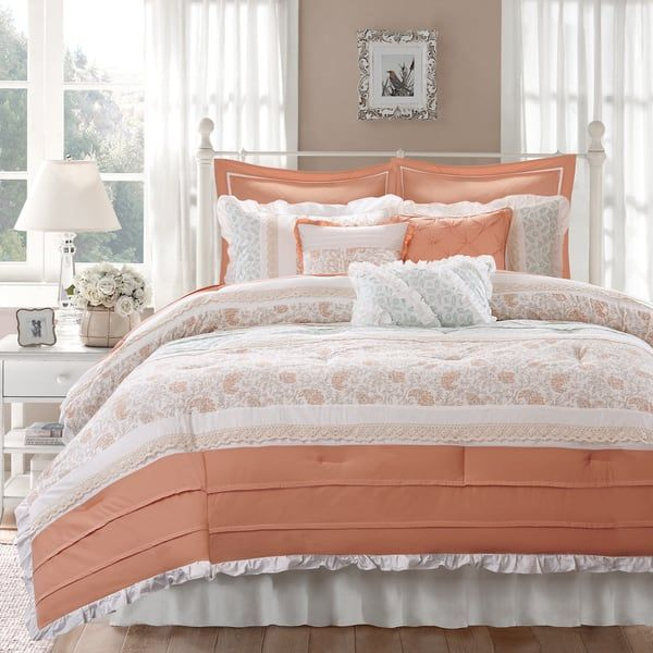 Best 25 Coral Comforter Set Ideas On Pinterest Coral