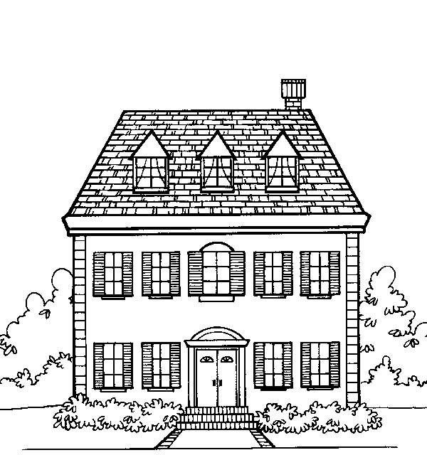 63 best House Coloring Pages images on Pinterest | Coloring books ...