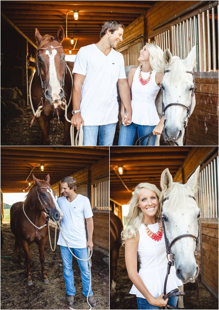 Love horses and engagement photos with them! Click to view more photos! (pic by JoPhoto) #weddingphotographer #engagement Tennessee photographer, engagement pictures, JoPhoto