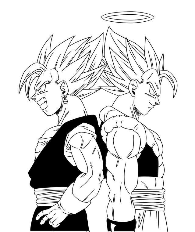 Vegeta And Goku Feat Coloring Picture Dragon Ball Super Manga Dragon Ball Art Dragon Ball Super Art