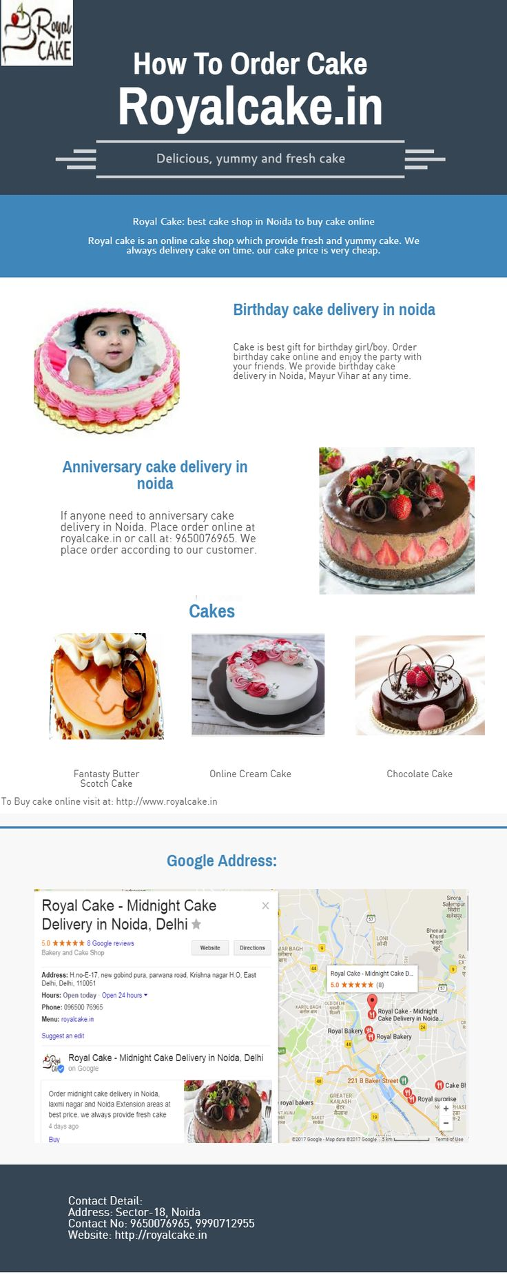 Royal cake is best place to choose online anniversary cake delivery in Noida. Write name of your friends, relatives and dear ones on anniversary cakes online. We have something special deigns and taste is also yummy. Hope you will love this anniversary.  For more info visit at: http://royalcake.in/product-category/online-anniversary-cake-home-delivery/