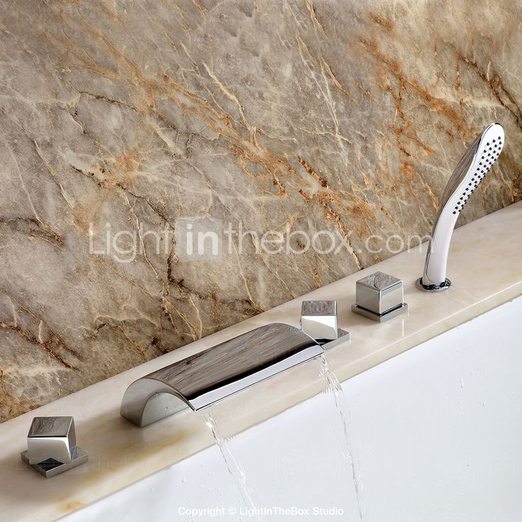 1279 Sprinkle® Tub Faucets - Contemporary Chrome Waterfall / Widespread Five Holes | Bathroom Inspiration | Pinterest | Faucet, Bathroom and Tub faucet