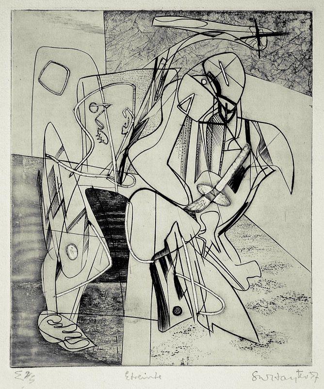 Stanley William Hayter, Etreinte (Embrace), 1937