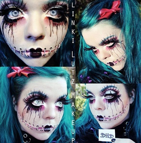 Silenced girl The technique on this makeup is brilliant! talent #makeup #cheshire