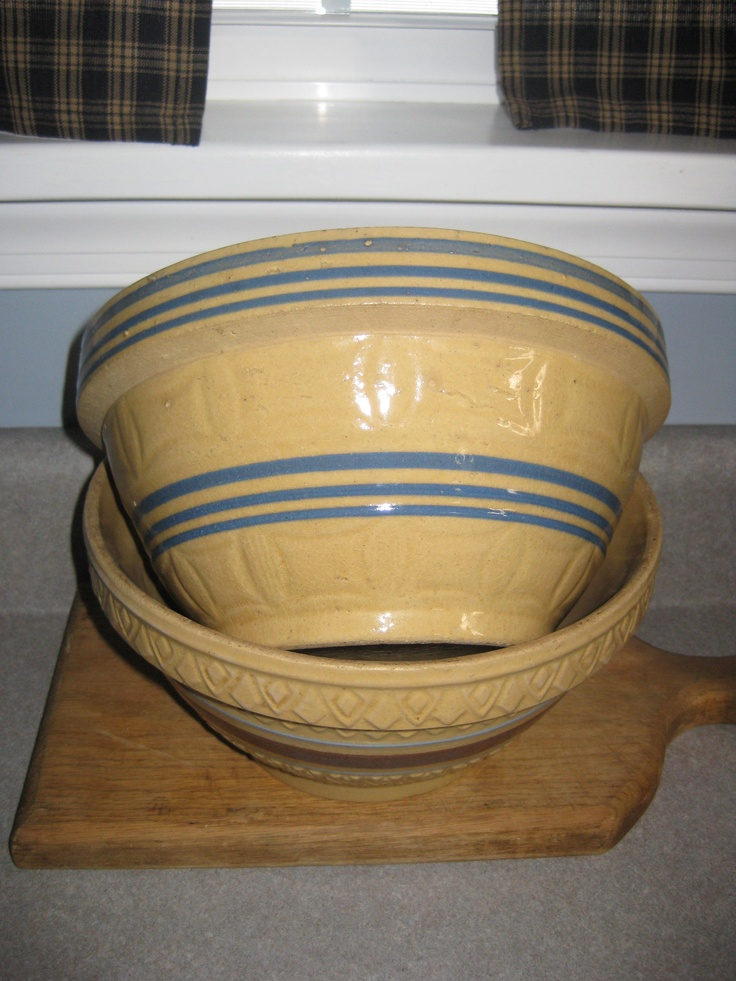 Antique Yellow Ware Bowls