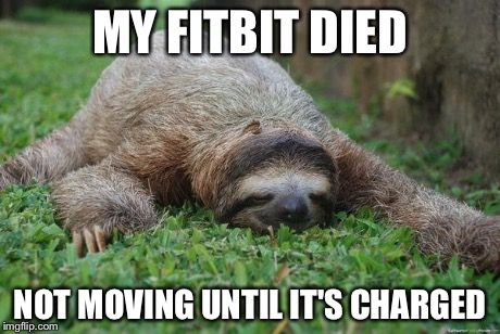 Don't move until the Fitbit charged.