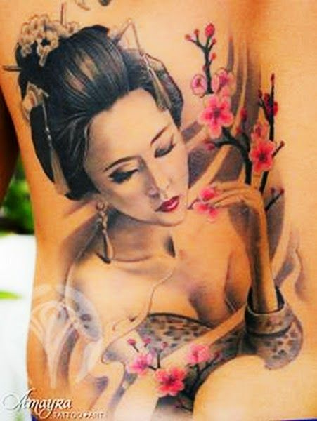 tattoos of geishas