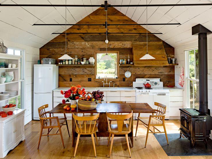 small kitchen with white appliances