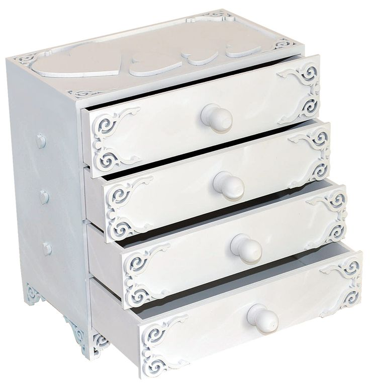 Chest of drawers hearts open