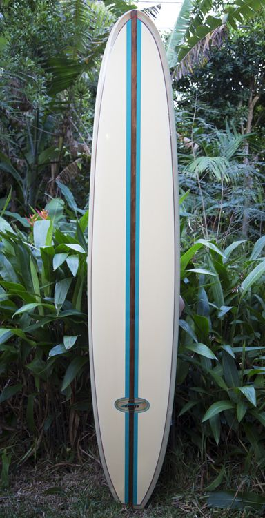 Contact us for starting bid/Buy it now price | Board Location: Hawaii *Worldwide Shipping Available* Beautiful Hansen 10′ long board from the early 1960s. This vintage surfboard has been full…
