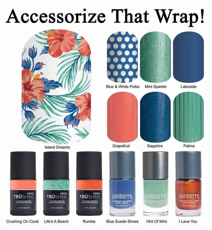 Just got Island Dreams Jamberry Nail Wrap in the mail yesterday! Now the tough decision, which to pair it with!