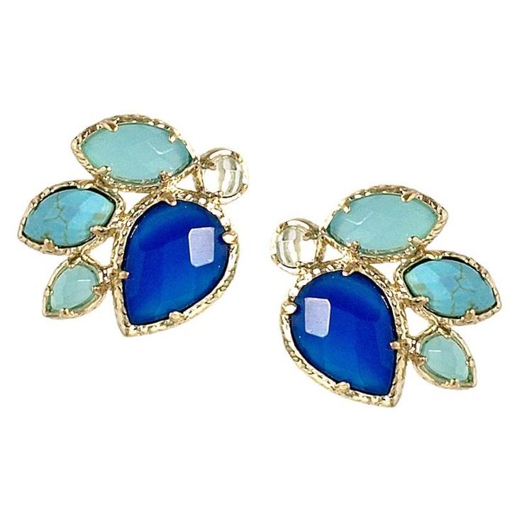 Kendra Scott Carmella Blueberry Earrings at aquaruby.com