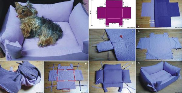 DIY Craft Project: Fabric Pet Bed - Find Fun Art Projects to Do at Home and Arts and Crafts Ideas