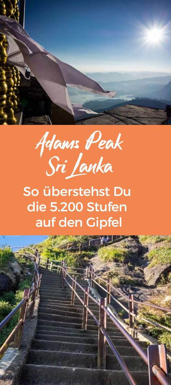 Adams Peak in Sri Lanka: So überstehst Du die 5.200 Stufen auf den Gipfel