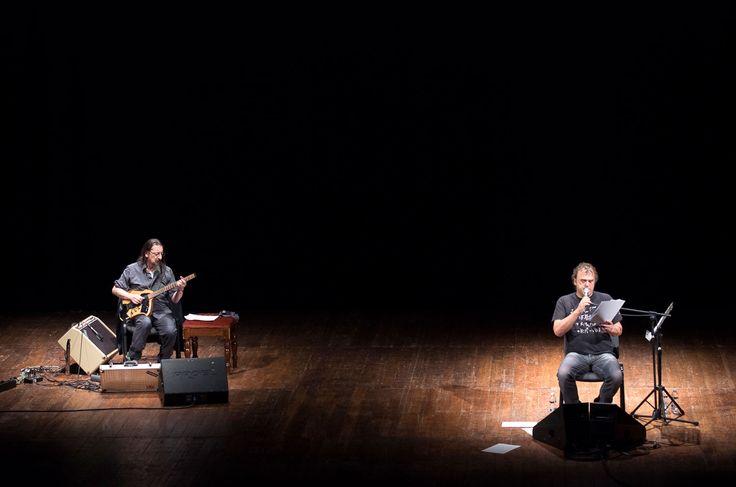 """""""La Notte"""" by Pippo #Delbono. In foto: Piero Corso, Pippo Delbono. Foto by Chiara Ferrin #theatre #music"""