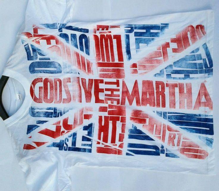 Good save the Martha. T-shirt woodtype letterpress print. #letterpress #woodtype #tshirt #typography