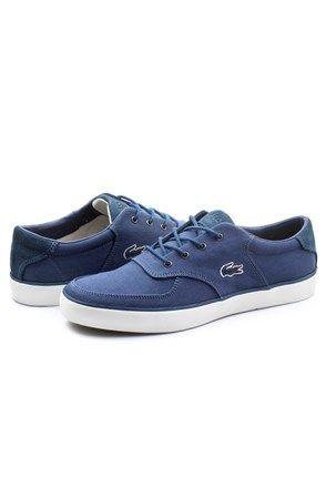 Ανδρικά χαμηλά sneakers σκούρο μπλε - Lacoste | Stilago