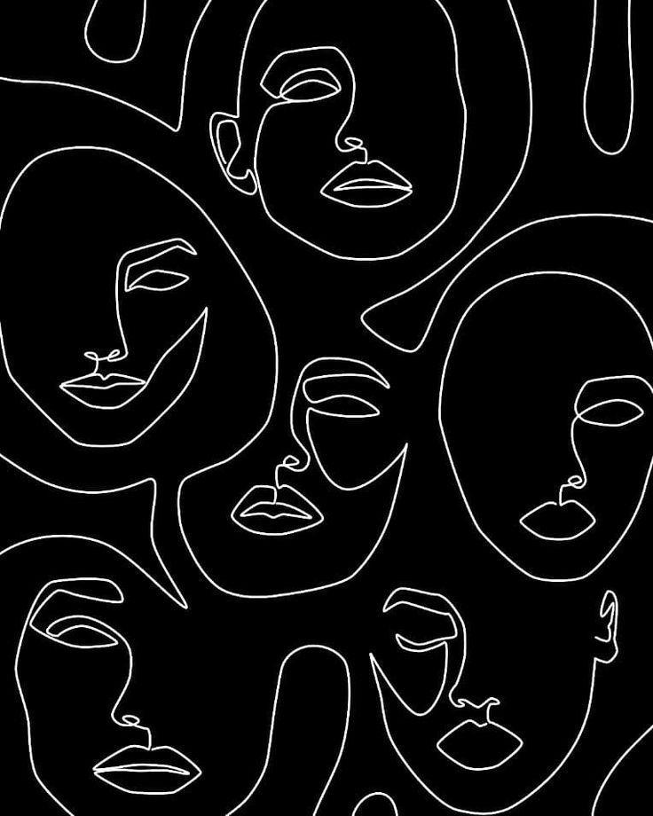 """Faces in Dark"" by Explicit Design // Shop link in bio @Society6 – #bio #Dark #D… – Lisa"
