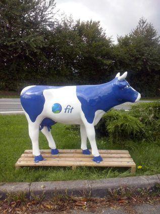 """vache médium """"FIT"""", les entreprises aussi l'ont adopté comme vache totem publicitaire"""