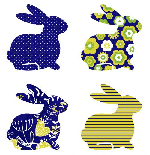 Abstract Bunny Clipart   #Easter #Bunny #Clipart #Kids