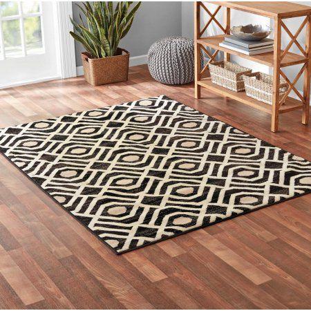 Mainstays Neutral Geometric Black 3 Piece Area Rug Set Walmart Com Area Rug Sets Rug Sets Rugs 3 piece area rug sets