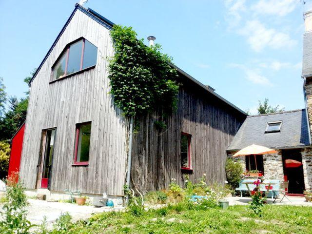 8 best Réhabilitations images on Pinterest Extensions, Barn and - maison en bois et en pierre