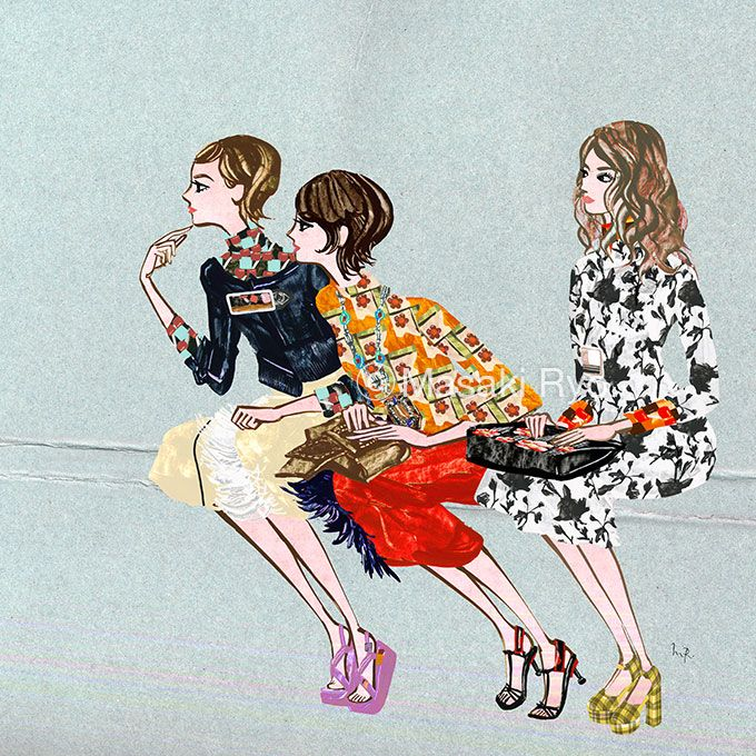 inspired by Prada - Spring 2017 Ready-to-Wear | illustration by Masaki Ryo.