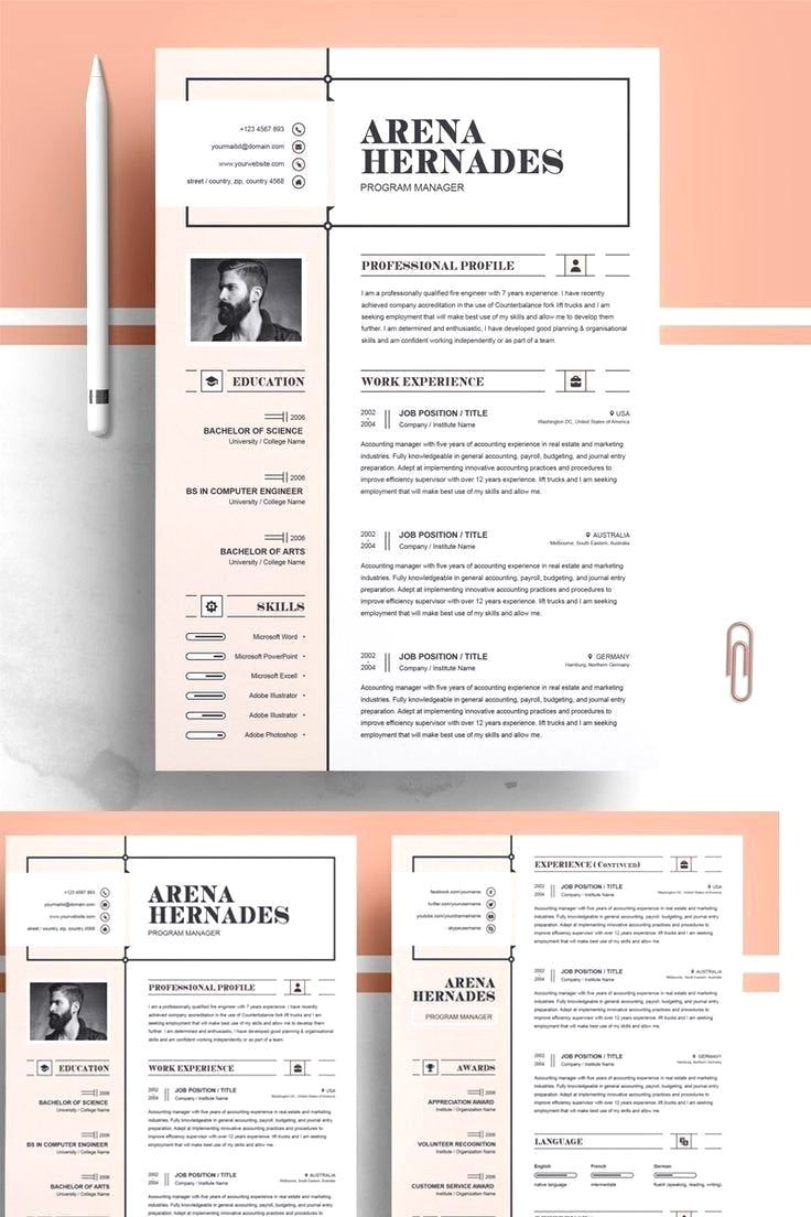 Resume Template Cv Template Professional And Creative Resume Design Cover Letter F In 2020 Resume Design Creative Resume Design Template Resume Design Professional