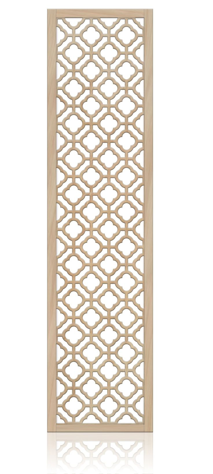 """Notre Dame"" quatrefoil room divider screen. 24x80 MDF $213. The perfect headboard!"