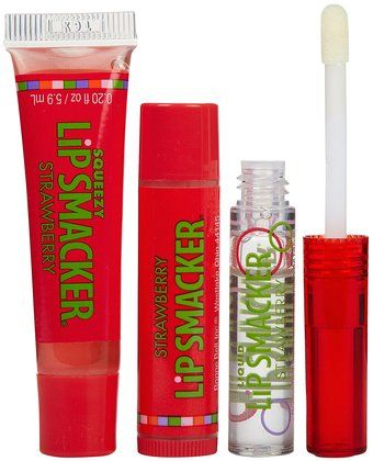 Bonne Bell Lip Smackers in Strawberry.  Thick. gooey. Nasty.  Our Eighth grade lips never looked so smokin' hot!  LOL