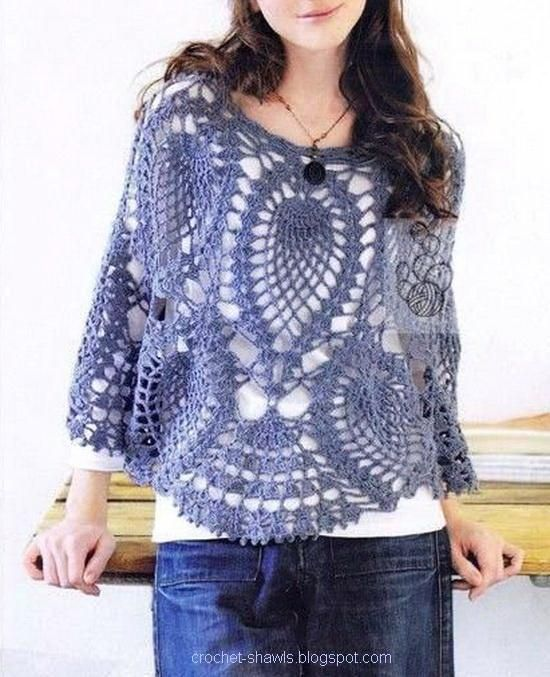 Crochet Shawls..this site has lots of photos, but I haven't found any pattern instructions yet.