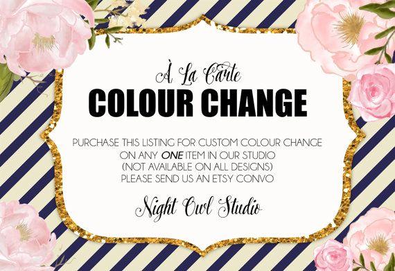 Custom Colour Change-À La Carte Colour by NightOwlStudioDesign
