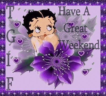 TGIF Have a Great Friday days purple friday gif happy friday fairy betty boop days of the week good morning weekdays friday greeting