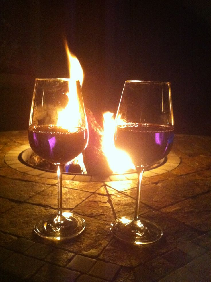 Wine Glass Fire Pit Creativity - pixelmari.com