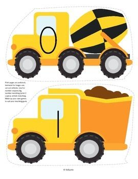 ***FREE*** This is a set of large construction vehicles, numbered 0-20, to use for early learners - preschool, pre-K and Kindergarten. Large pieces for little hands.