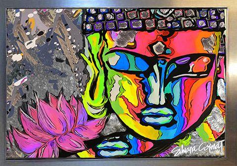 buddha Acrilico sobre lienzo