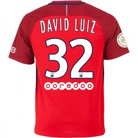 Paris Saint Germain PSG 16-17 #David Luiz 32 Udebanesæt Kort ærmer,208,58KR,shirtshopservice@gmail.com