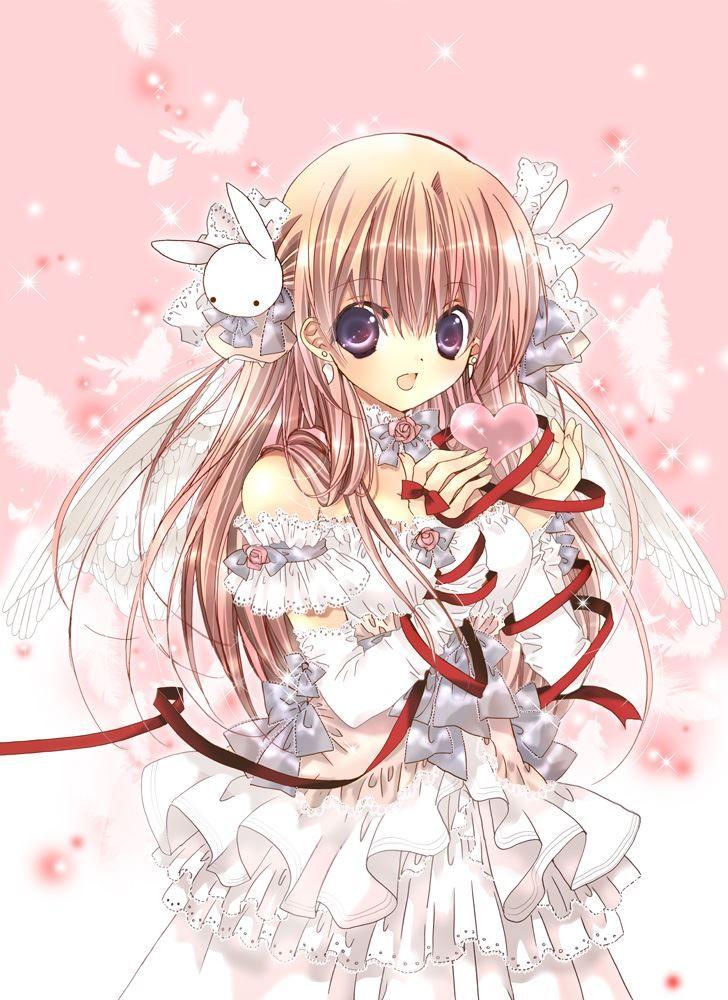 她是美丽的天使儿。 样貌-手中小心翼翼地捧着爱心,小小的兔子头饰乖巧地挂在头发两边,背后一双纯白美丽的翅膀轻轻扇动,深紫色的眸子与亚麻色的及腰长发完美地衬托出她纯净的气质,身着白色蛋糕裙,浅浅笑着。 类别- 她是少女,无比纯洁,也是美丽的天使儿 更是——自由自在的蝶