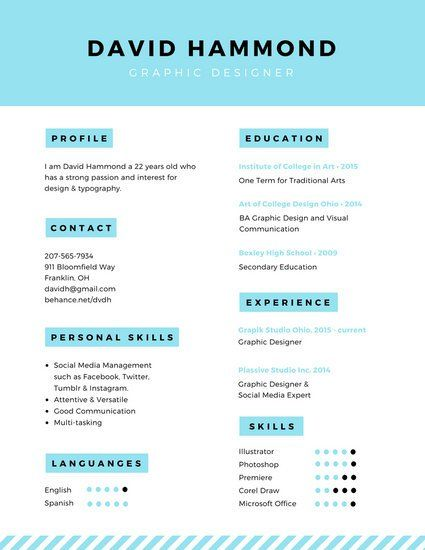 33 best Resume images on Pinterest Resume templates, Page layout - graphic design student resume