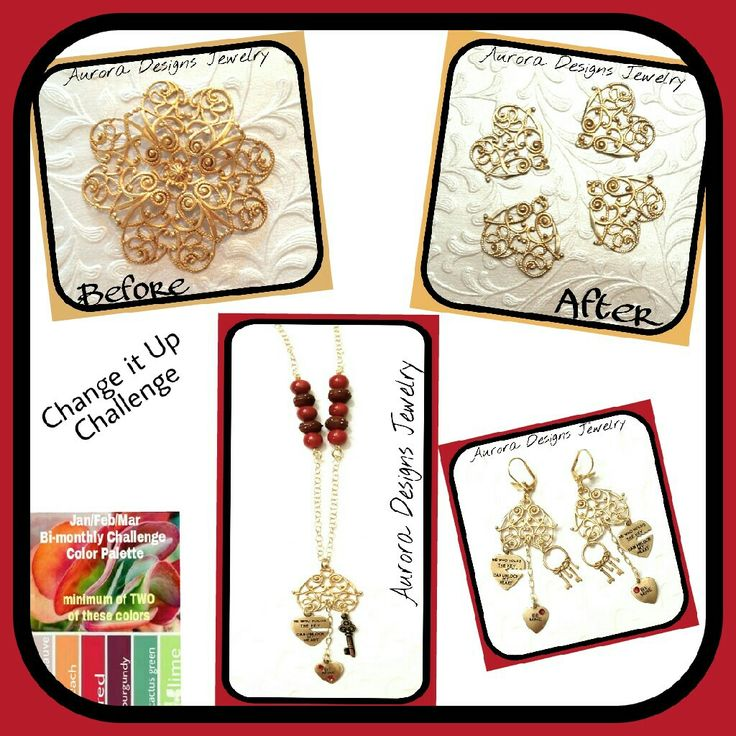 Change It Up Challenge set designed and created by Marcia Tuzzolino of Aurora Designs Jewelry