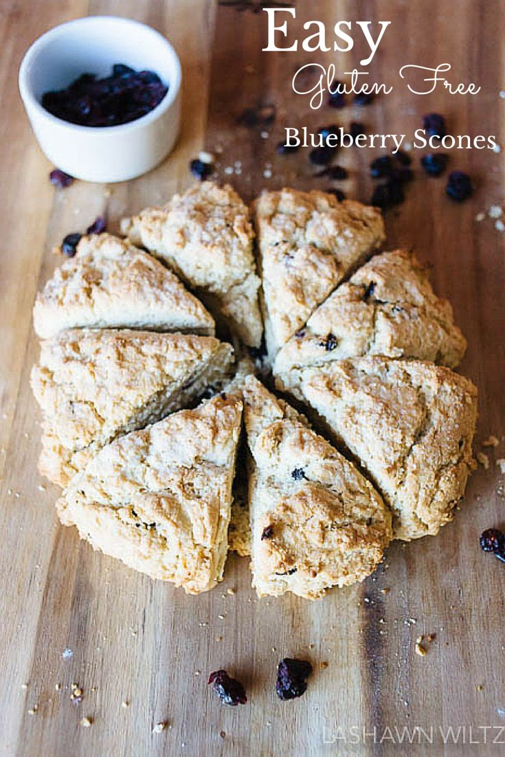 I love scones. We eat Gluten Free. This Easy gluten free blueberry scone recipe is just what you need for brunch.
