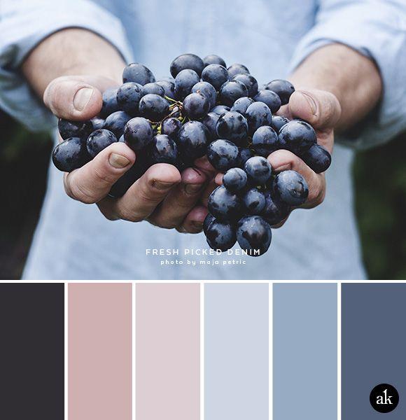 A denim-inspired color palette