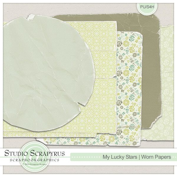 My Lucky Stars | Worn Papers by Scrapyrus Designs