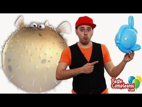 Balloon Fish - Palloncino Pesce Palla - Balloon Ball Fish Tutorial, how to twist a Balloon Fish with balloon art.  Animazione per bambini - Pesce Palla - Oggi vedremo come realizzare una nuova scultura per animare le vostre feste di compleanno. Con un palloncino rotondo e due palloncino modellabili riusciremo a creare un Pesce Palla!